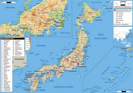 Physical Map Of East Asia by Maps Of Japan Detailed Map Of Japan In English Tourist Map Of
