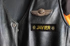 biker vest proper patch layout for a leather biker vest it still runs