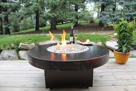 oriflamme round hammered copper fire pit table all backyard fun