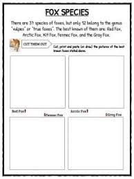 fox facts habitat information u0026 worksheets for kids