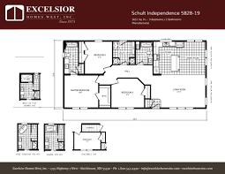 schult manufactured homes floor plans schult independence 5828 19 excelsior homes west inc