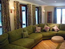white sofa combined well with green walls for amazing living room