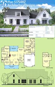 garage plans with bonus room plan 51754hz modern farmhouse plan with bonus room farmhouse