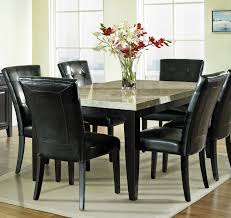 steve silver monarch 7 piece marble top dining room set beyond