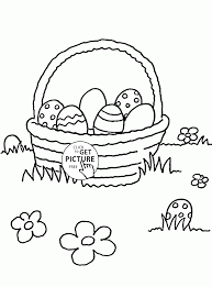 easter eggs and flowers coloring page for kids coloring pages