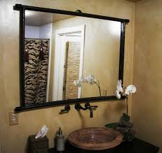 bathroom mirror designs bathroom mirror ideas on wall rectangle brown granite top light