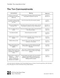 13 best images of free printable ten commandments worksheets
