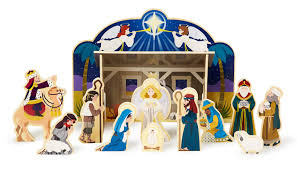 amazon com melissa u0026 doug classic wooden christmas nativity set