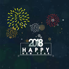 2018 new year banner colorful fireworks numbers decoration free