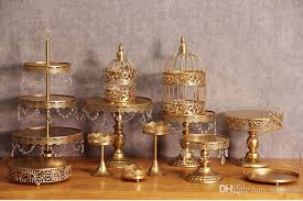 gold cake stands 2017 gold wedding dessert tray cake stand cupcake pan party supply