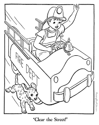 fire truck coloring book coloring