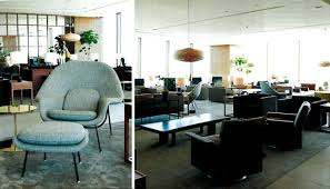 saarinen womb chairs selected for the redesigned cathay pacific