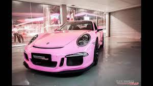 pink porsche 911 dia show tuning pink rosa folierung porsche 911 991 gt3 by