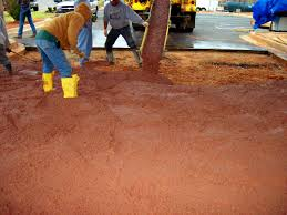 how to pouring colored concrete slabs direct colors inc