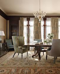 colefax and fowler for a traditional dining room with a area rug