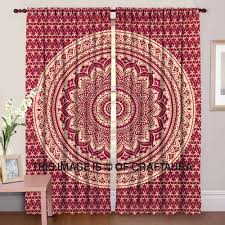 indian mandala door covers window curtains hippie cotton window
