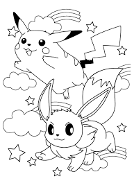 pokemon coloring pages eevee in evolutions all shimosoku biz