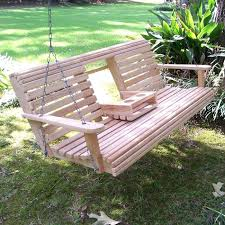 deck swing plan build a wood porch swing with cup holders outdoor
