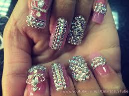 acrylic nails bling bling nails nail design part 2 youtube