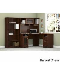 Bush L Shaped Desk With Hutch New Shopping Special Bush Furniture Cabot L Shaped Desk With