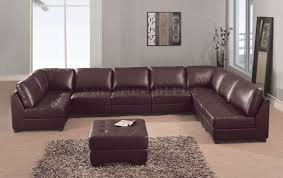 furniture engaging home 2227 modern brown leather sectional sofa