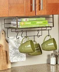 under cabinet storage shelf eliminate clutter and add extra organization to your kitchen with