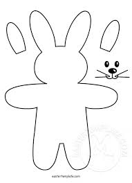 pattern felt bunny ornament easter template
