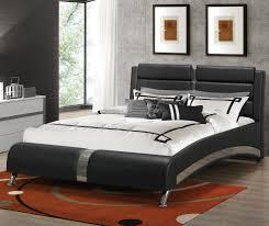 coaster furniture 300350q black queen bed