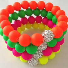 shamballa bead bracelet images 12 piece lot each color 3 piece mix neon fluorescence candy jpg