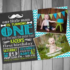 1st Birthday Invitation Card For Baby Boy Mustache 1st Birthday Invitations Vertabox Com