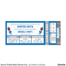 baby shower sports invitations sports ticket baby shower invitation blue gray card baby shower
