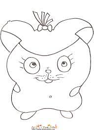 coloriage d u0027un hamster fille etonne sur tête à modeler