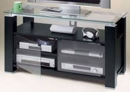 tv stands audio cabinets elite industries el 995 black ash tv stand and audio rack