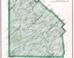 bucks county map bucks county pa etsy