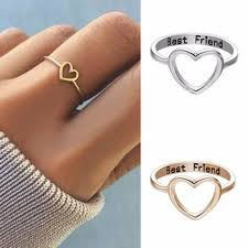 finger rings images images Friendship rings love heart best friend ring promise women finger jpg