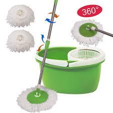 Floor Mop by Amazon Com 360 Rotating Head Easy Magic Floor Mop Bucket 2 Head