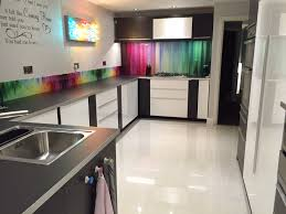Design Kitchens by Ikea High Gloss White Ringhult Design Accented With Black