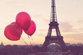 paris is love red balloons in paris eiffel tower paris
