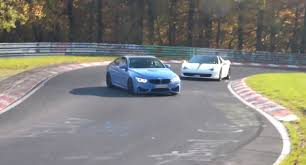 Ferrari 458 Drifting - bmw m4 driver shows off in front of ferrari 458 nearly loses it