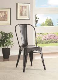 oswego black metal chair set of 2 for 169 94 furnitureusa