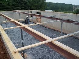 steel support beams u0026 preparing for concrete floor