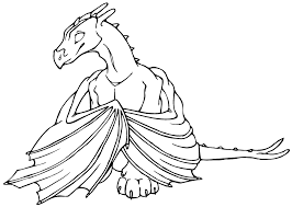 dragon drawing simple pencil sketch drawing in stylish coloring