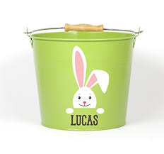 easter pail personalized big ear bunny easter pail choose the