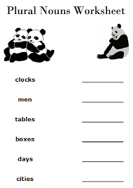 plural mouns worksheets free printable 2nd grade english