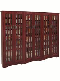 Cherry Wood Bookcase With Doors Multimedia Cabinet With Glass Doors Foter