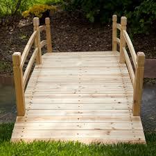 amazon com coral coast harrison 8 ft wood garden bridge