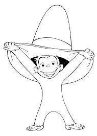 print u0026 download curious george with balloons coloring pages