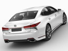 lexus sport lexus ls500 f sport 2018 3d model in sedan 3dexport