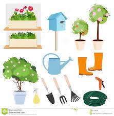 spring gardening set stock vector image 52198094