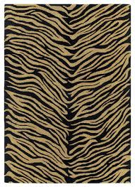 Black And Gold Rug Khazana 6604 62 Black Gold Animal Print Rug Tropical Novelty